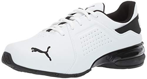 PUMA Men's Viz Runner Sneaker, White Blac, 10.5
