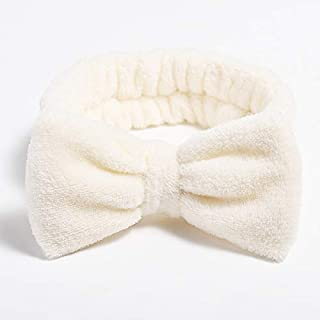 Hair band Coral Fleece Wash Face Bow Hairband For Girls Elastic Headbands Solid Color Hair Bands Hair Accessories MJZCUICA...