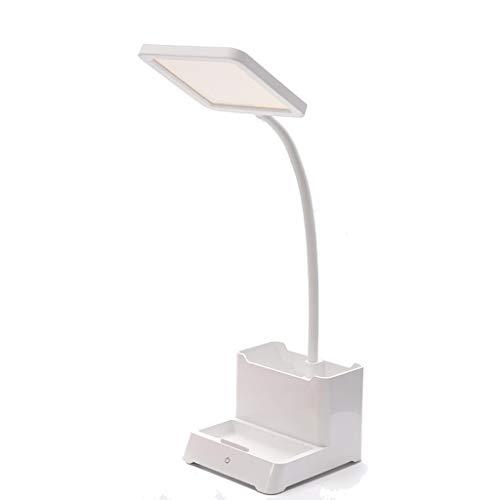 lampara de escritorio Lámpara de escritorio LED Lámpara de escritorio recargable con soporte de la pluma Tenedor de teléfono 360 ° Flexible Cuello de cisne de protección de ojos for estudiar Para leer