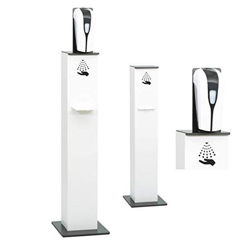 INVIDA Desinfektionsständer mit Elektronischem Sensor Spender Desinfektionssäule Desinfektionsstation Hygienesäule 115 cm