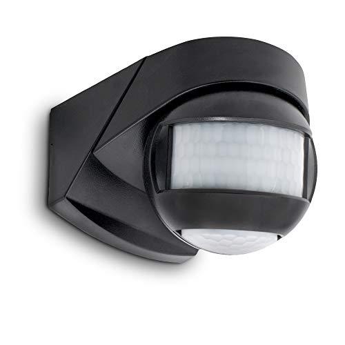 SSC-LUXon KELEA Bewegungsmelder mit Dämmerungssensor Aussen IP54 für Wand, Decke & Ecken - PIR Sensor schwarz drehbar einstellbar