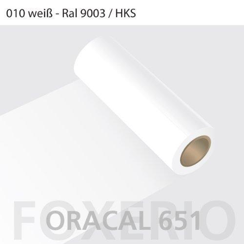 Orafol - Oracal 651 - 31cm Rolle - 5m - Weiß / glanz, A44oracal - 651 - 31cm - 02 - kl - Autofolie / Möbelfolie / Küchenfolie