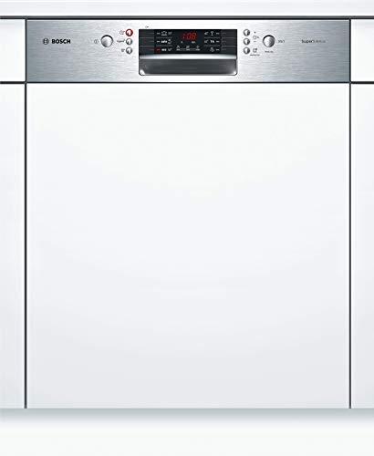 Bosch SMI46NS03E Serie 4 - Lavastoviglie parzialmente integrate, A++, 60 cm, in acciaio INOX, 266 kWh/anno, 14 MGD, SuperSilence, asciugatura extra