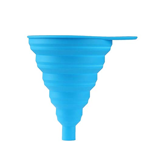 SimpleMagic faltbarer Silikon-Trichter für Küche, Haushalt und Auto | Hochwertiger Küchenhelfer zum Aufhängen oder Verstauen in der Schublade | Einfüllhilfe | Hitzebeständig bis +230° | Menge: 1 Stück