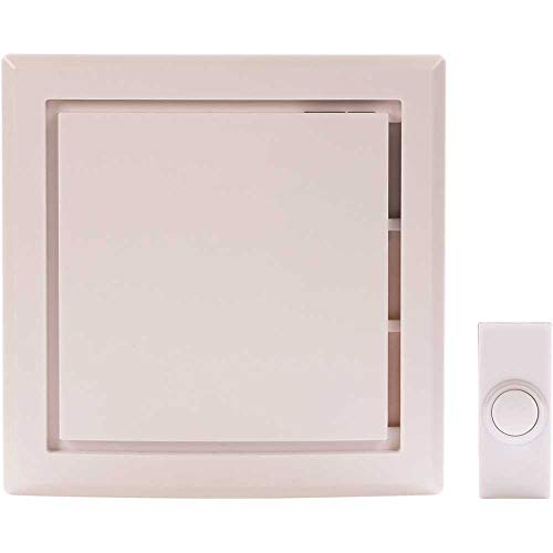 Hampton Bay Wireless Battery Operated Door Bell Kit with 1-Push Button in White HB-7733-03