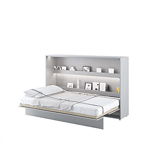 LENART Bed Concept - Cama plegable (120 x 200 cm), color gris mate
