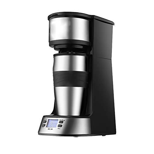 ZYJ Einzelne Kaffeemaschine, Mini-Espressomaschine Tragbare Haushalts-amerikanische automatische Filter-Tee- / Kaffeemaschine Intelligente Temperaturregelung Einfache Bedienung