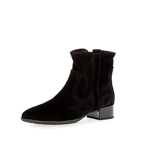 Gabor Damen Stiefeletten, Frauen Ankle Boots,Comfort-Mehrweite,Reißverschluss, Women's Women Woman Boots Stiefel,schwarz (Micro),38 EU / 5 UK