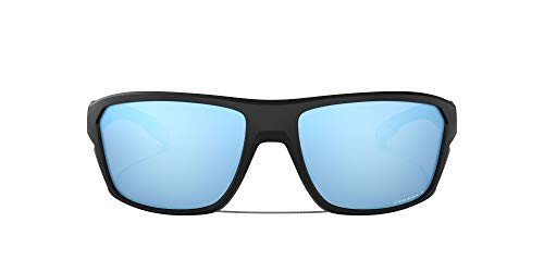 Oakley Men's OO9416 Split Shot Rectangular Sunglasses, Matte Black/Prizm Deep H2O Polarized, 64 mm