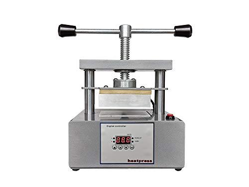 Manual Twist Heat Press Machine with 3 Ton Pressure and 3 x 5 Inch Dual Heating Plates