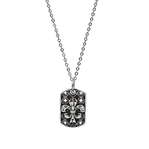 Miffen Collar De Cruz Cuadrada Vintage De Plata De Ley 925, Colgante De Cadena De ClavíCula, Colgante para Novia Y Novio, CumpleañOs De Esposa DíA De San ValentíN