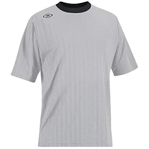 Tranmere Soccer Jersey - Adult X-Large, Silver/Black