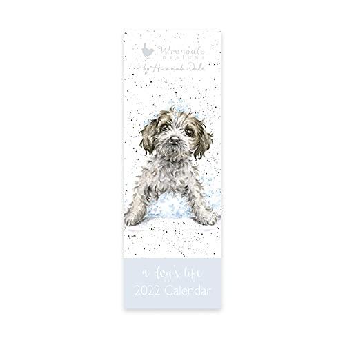 Wrendale Designs - Calendario sottile 2022, motivo 'A Dog's Life'