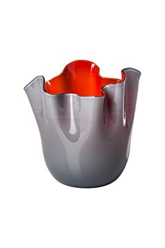 VENINI Vase Vase mittelgroß 20 cm H cm 24 Farben Uva-lattimo-rot