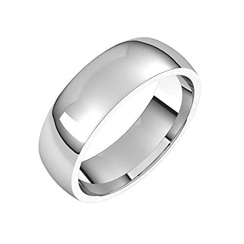 Anillo de plata de ley 925, medio redondo, 6 mm, ajuste cómodo, ligero, medio, ajuste cómodo, para mujeres, regalo de joyería para mujer. Rango de opciones de tamaño de anillo: K a Z, Metal,