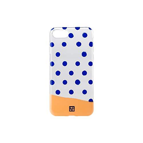 Io & Mio Funda Smartphone - Diseño Exclusivo Lunares Compatible con Iphone 7 / 8