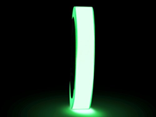 WOD GDT24 Photoluminescent Glow in The Dark Tape, Green - 1 in. X 50 yds. (Pack of 36) Ideal for Labeling Safety Signs and Emergency Exits