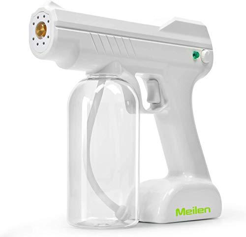 Meilen Nano Sterilization Atomizer 800ml Disinfectant Steam Gun, Handheld Rechargeable Nano Atomizer Large Capacity ULV Electric Sprayer Nozzle Adjustable Fogger for Home, Office, School or Garden