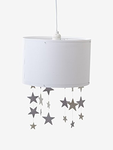VERTBAUDET Abat-jour étoiles à suspendre Pluie d'étoiles blanc/gris TU