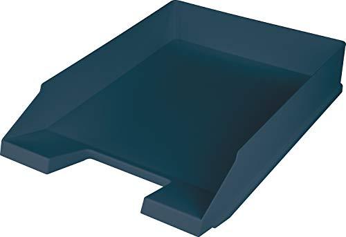 """Helit H2661634 - Briefablage \""""the green staff\"""", DIN A4-C4, aus Recycling-Kunststoff Blauer Engel zertifiziert, blau, 1 Stück"""