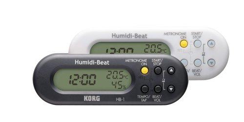 KORG HB-1, Metronom mit Uhr, Feuchtigkeits- und Temperaturmesser, weiß