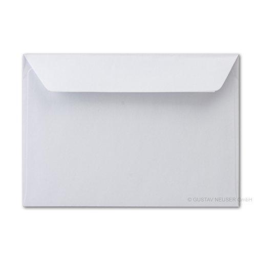 50x Brief-umschläge aus Feinst-Papier 12 x 18 cm - ca DIN B6 mit Haftklebung, weiss, stabile 90 g/m², Post-Umschläge Brief-kuverts