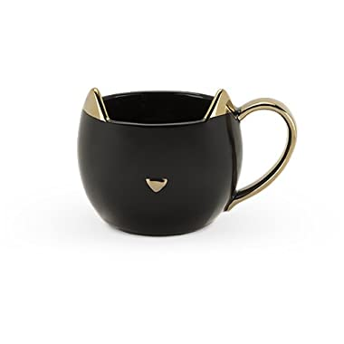 Pinky Up 5386 Chloe Black Cat Cups, Mugs and Saucers