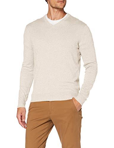 ESPRIT Herren 090EE2I306 Pullover, Beige (294/Light Beige 5), Small