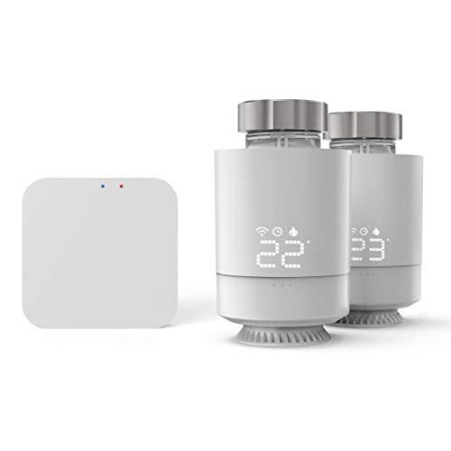 Hama Smartes Heizkörperthermostat, Starter-Set 2 St. mit Hub (Heizungssteuerung WLAN, Smart Home Heizungsregler f. alle Ventile, programmierbarer Heizungsthermostat, heizen per App und Energie sparen)