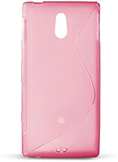 Ksix S Style - Funda flexible de TPU para Sony Ericsson Xperia P Nypon LT22i, rosa translúcido