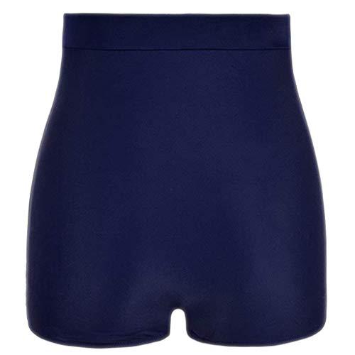 Damen Badeshorts Hoch taillierte Plissee Boxershorts Einfarbig Bikinihose Schwimmshorts Sporthose Tights Laufhose High Waist Dehnbar Jogginghose Yoga Sport Fitness Laufen