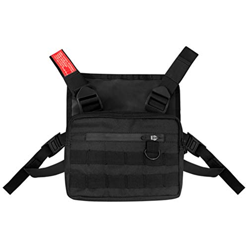 Macabolo Chest Rig Bag Tactical Vest Harness Frontpack Beutel Holster Vest Rig Streetwear Funktionelle Chest Bag für Männer Frauen