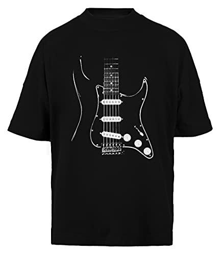 Negro Glowstrings Unisex Hombre Mujer Holgada Camiseta Black Algodon Organico Unisex Baggy T-Shirt Black