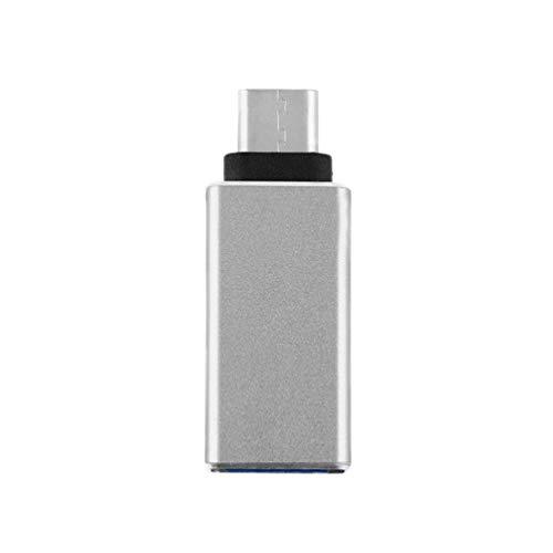 2 Colores Universal USB 3.1 Tipo C Macho a OTG Cargador de Datos de Datos Adaptador Conector de Cable Convertidor para Tableta Teléfono móvil Nuevo, Gris