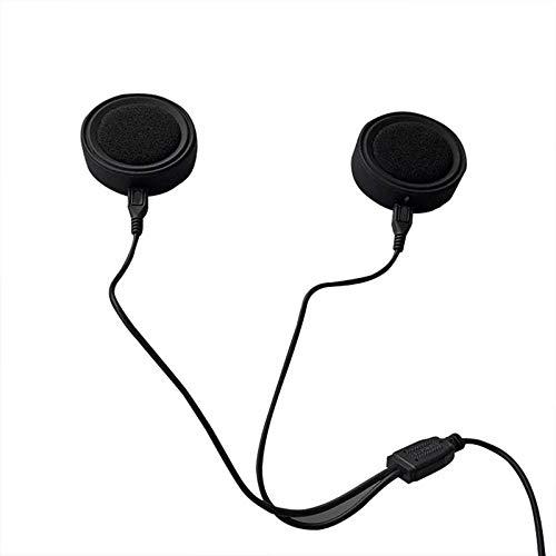 Not application Auriculares inalámbricos para casco de moto, Bluetooth 5.0, con sistema de sonido de micrófono para motocicleta