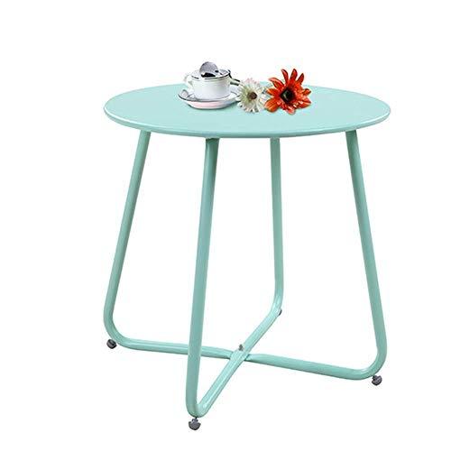 Mesa de Centro para Muebles, Mini Mesa Auxiliar Redonda Sala de Estar Balcón Mesa de Centro Mesa de Ocio Mesa de Noche para Dormitorio Mesa de Esquina D45 * H45CM (Color: Rojo) (Color: Azul)