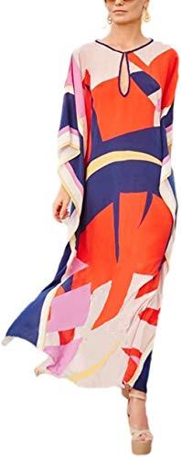 Belloxis Strandjurk dames zomer kimono strandjurk cardigan strandtuniek kaftan boho jurk lang