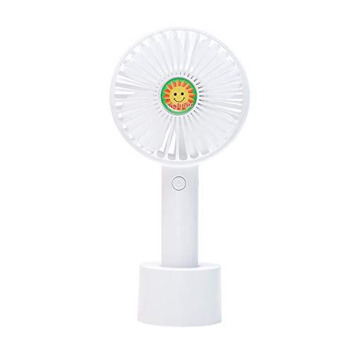 YUY Ventilador Pequeño USB Regalo Ventilador Pequeño Portátil Mini Cargador Portátil Escritorio Luminaria Transfronteriza Manija Luminosa Ventilador Pequeño,White