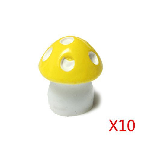 Qinghengyong 10Pcs Mushroom Toadstool Fairy Garden Terrarium Figurine