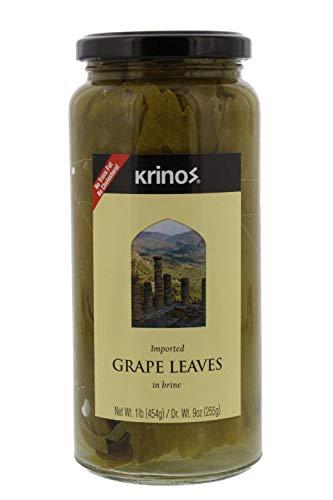 Krinos Gourmet Grape Leaves in Vinegar Brine, 16 Ounces, 454 grams
