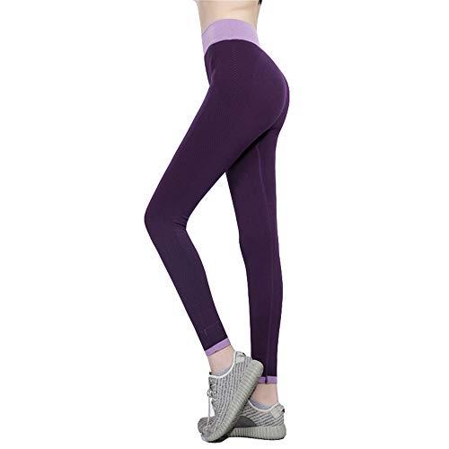 DISCOUNTL Pantaloni Sportivi da Yoga per Donna Fitness da Esterno con Leggings a Nove Punti Stretti ad Asciugatura Rapida, Pantaloni da Yoga Sexy da Donna