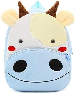 – BAGGEL – Mochila Infantil para Niños y Niñas | Mochila de Felpa de Animales | Modelo Vaca | Mochilas 3D de Animales | Ideales para guardería, Escuela, Deporte | 26 cm x 24 cm x10 cm |