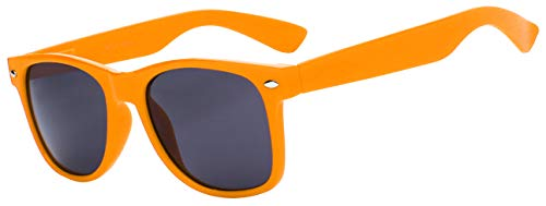 Classic Vintage Smoke Lens Orange Frame Sunglasses Retro Style OWL.