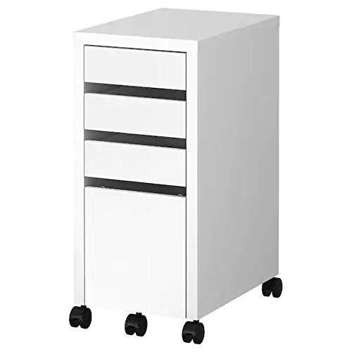 IKEA MICKE - Cajonera de oficina con archivador y ruedas, color blanco, 35 x 75 cm