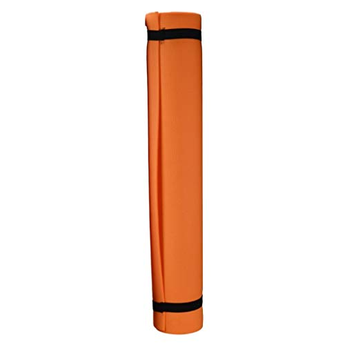 Injoyo rutschfeste Yogamatte Eva Gymnastikmatte faltbar Pilates Bodenmatte Fitnessmatte Turnmatte Sportmatte 173 x 60 cm - Orange