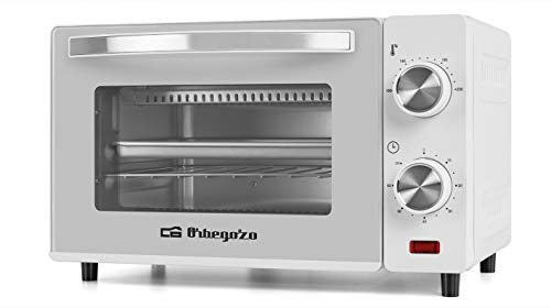 Orbegozo HO 970 - Horno eléctrico, 10 litros de capacidad, calor superior e inferior, temporizador, regulador de temperatura hasta 230°, 650 W, color blanco