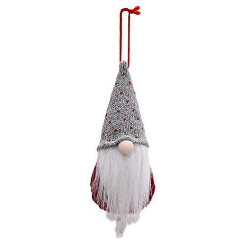 XINGYUE Navidad gnomo sueco Santa felpa lentejuelas Cap muñeca adornos colgantes árbol de Navidad vacaciones decoración del hogar fiesta regalo regalo de Acción de Gracias bolsa de botella de champán