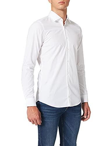 Strellson Premium Herren 11 Santos 10000206 Businesshemd, Weiß (White 100), Kragenweite: 42 cm