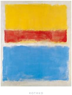Untitled (Yellow-Red and Blue) By Mark Rothko