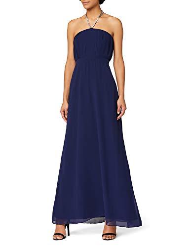 Amazon-Marke: TRUTH & FABLE Damen Maxi-Brautjungfernkleid, Blau (Blue Blue), 40, Label:L